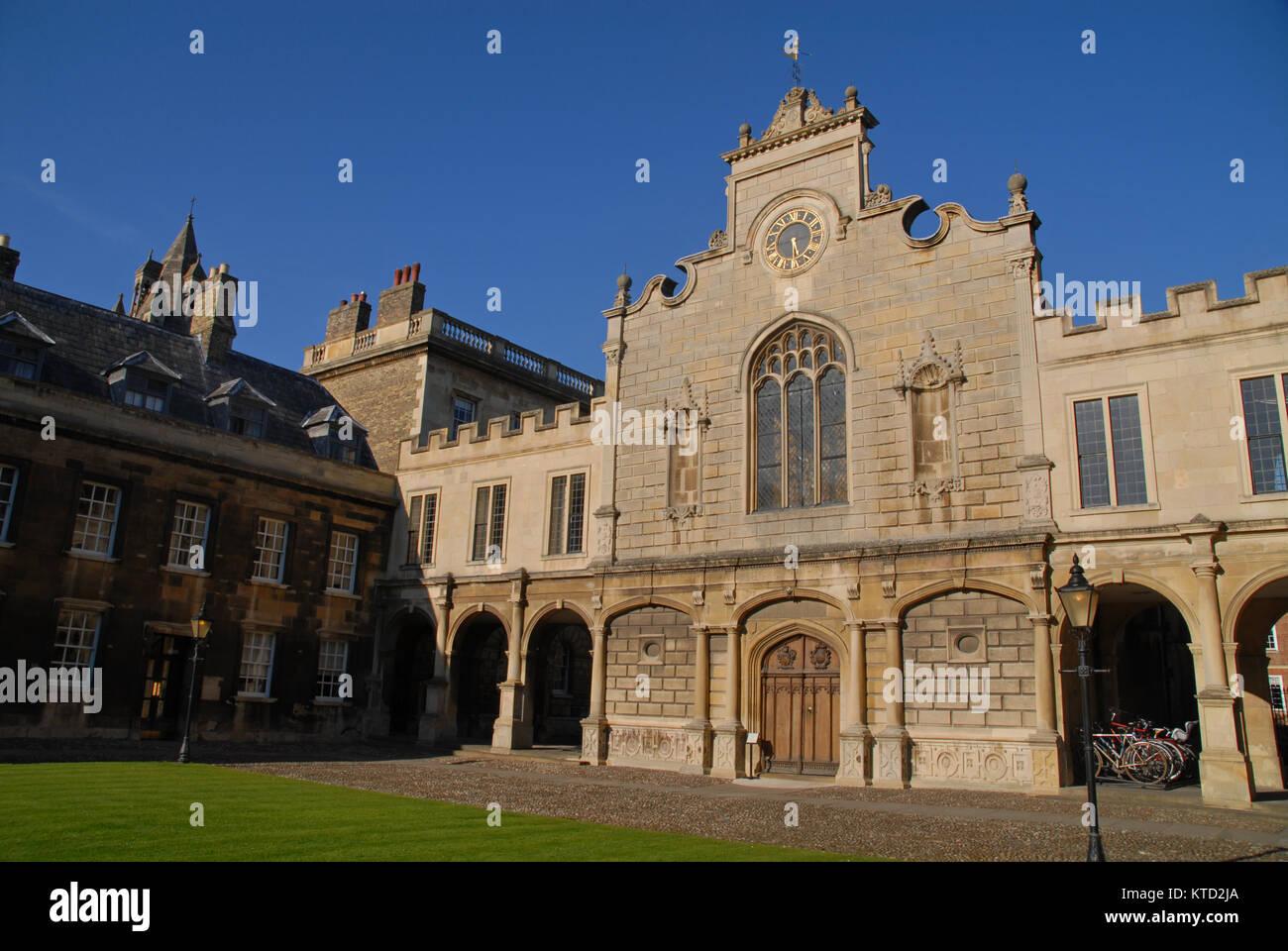 Cambridge, United Kingdom - April 18, 2015: Old Court at Peterhouse - Stock Image