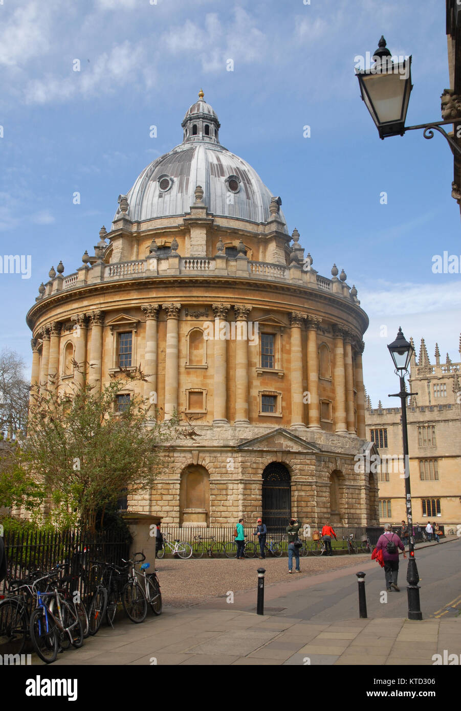 Oxford, United Kingdom - April 12, 2015: Radcliffe Square photographed from Catte Street - Stock Image