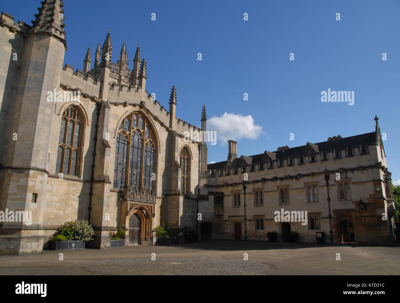 Oxford, United Kingdom - May 18, 2015: St. Johns Quad and chapel at Magdalen College Stock Photo