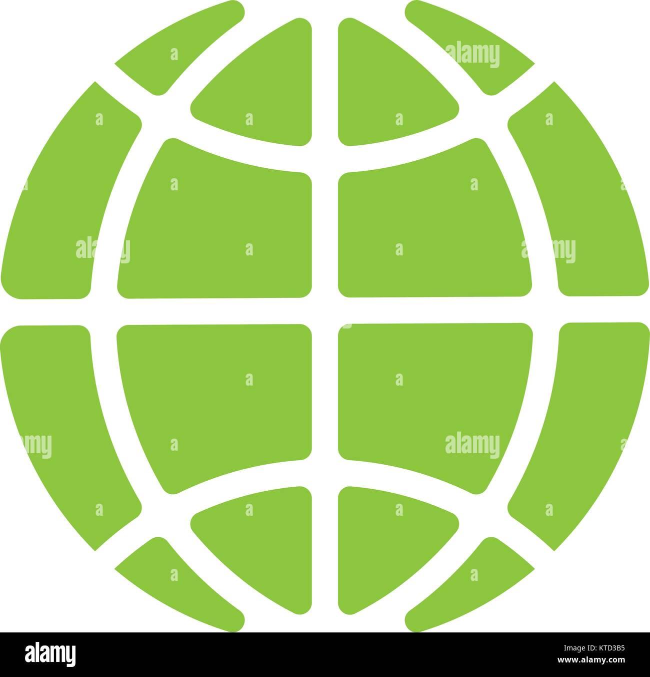 Global technology vector icon, Holding globe, social network vector icon. - Stock Vector