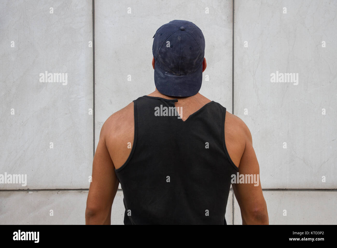 7ac1e67a7eef6 Black Tank Top Stock Photos   Black Tank Top Stock Images - Alamy