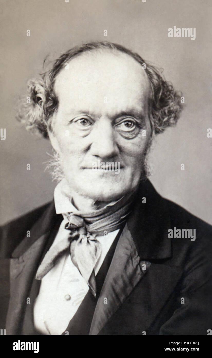 Sir Richard Owen KCB FRMS FRS (1804-1892) in an 1860s portrait. - Stock Image