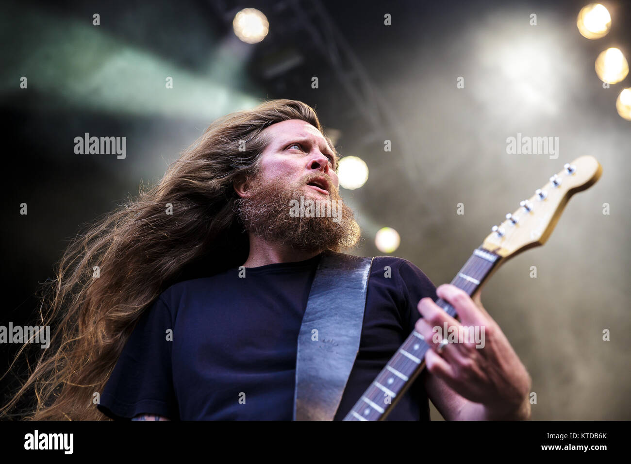 The American death metal band Obituary performs a live ...