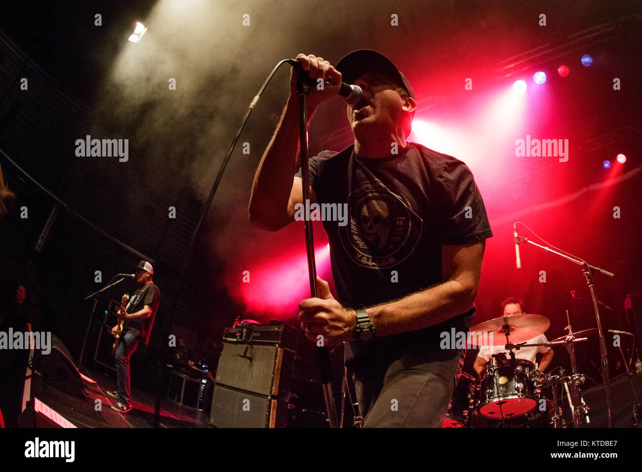 The American punk band Pennywise performs a live concert at Amager Bio in Copenhagen. Here vocalist Jim Lindberg Stock Photo