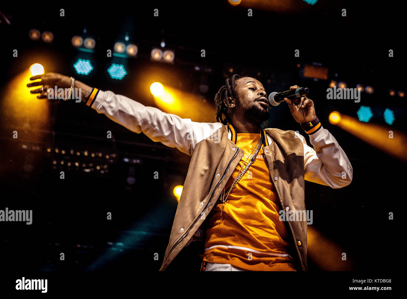 The Jamaican singer, songwriter and deejay Popcaan performs a live