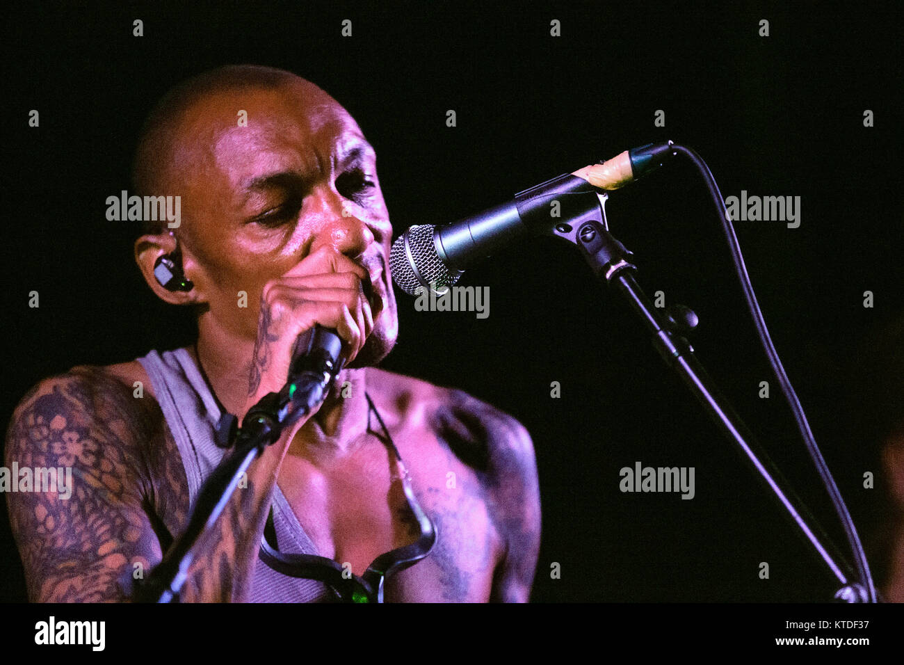 The English trip hop musician, singer and producer Tricky performs a live concert at Forum in Copenhagen. Denmark, - Stock Image