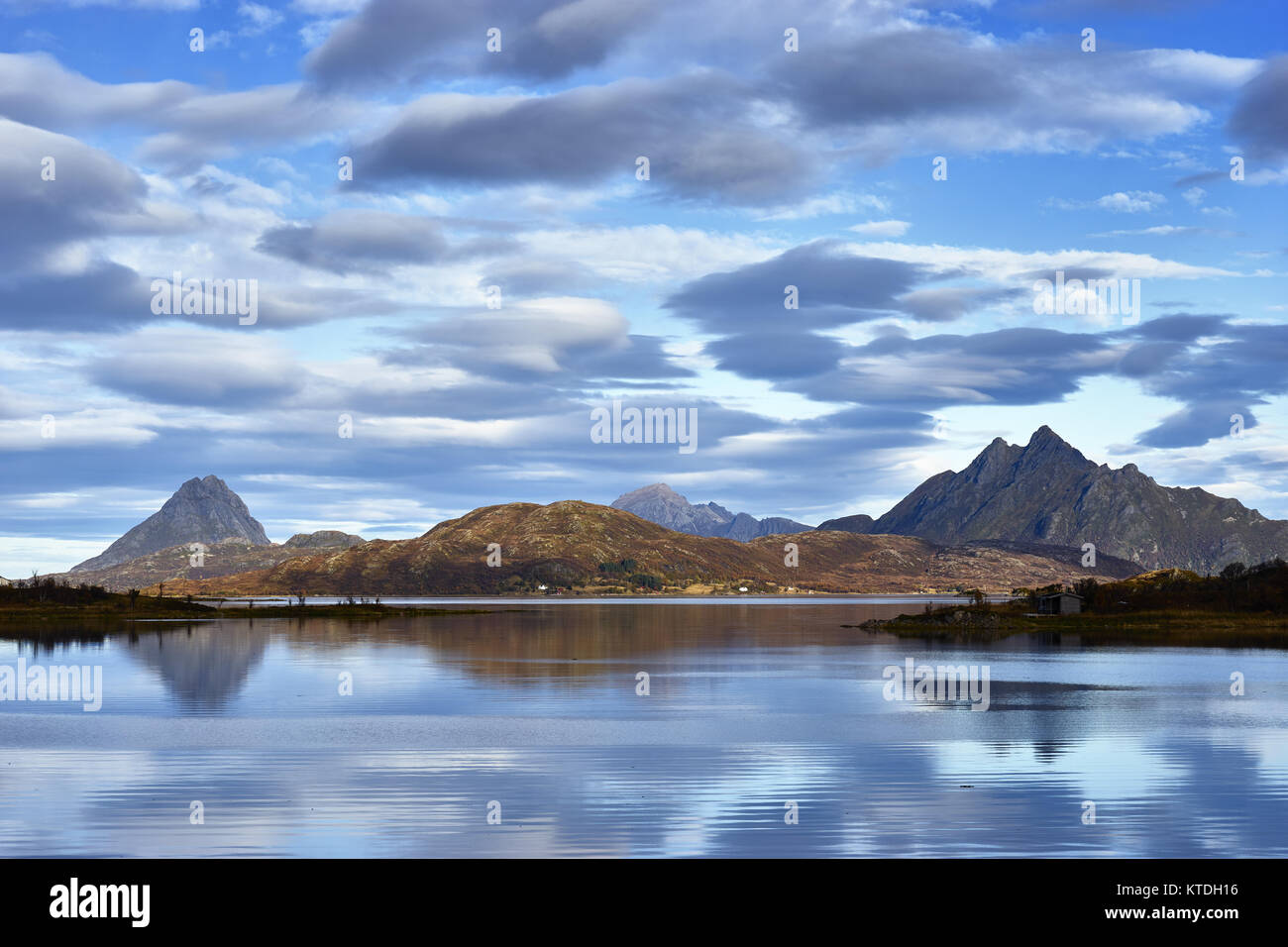 Coastal view from Rygge on Langoya, Bo, Nordland, Norway - Stock Image