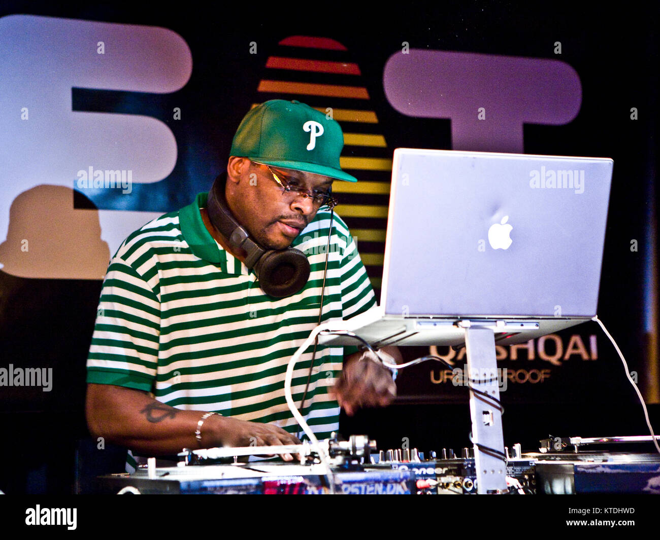 The American hip-hop producer and beat maker Jeffrey Allen Townes is better known by his stage name Jazzy Jeff and - Stock Image