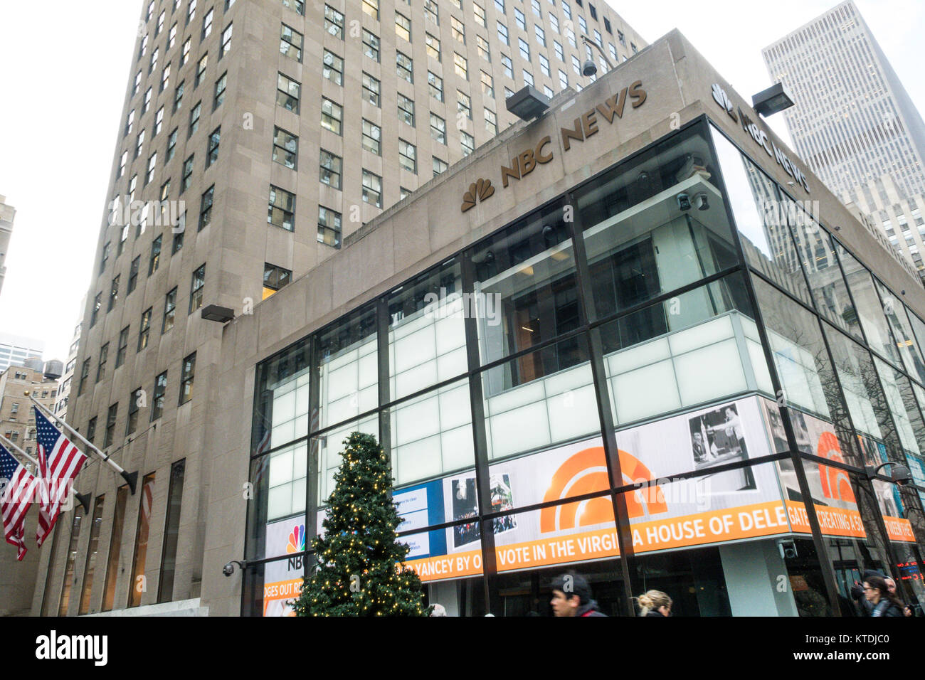 NBC News and Today Show Studio in Rockefeller Center, NYC, USA Stock