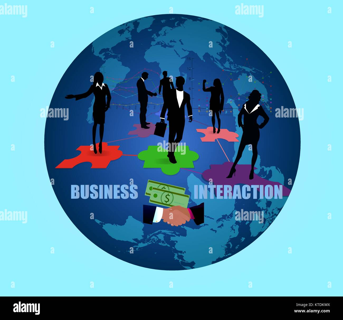 BUSINESS INTERACTION - Stock Image
