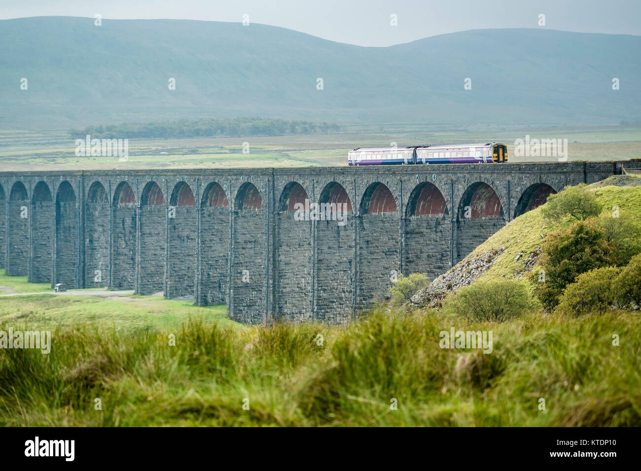 Great Britain, England, District Yorkshire Dales, Ribblehead Viaduct, Carlisle - Stock Image