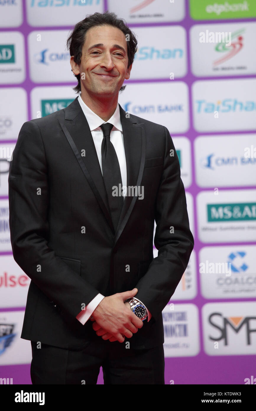American actor and producer Adrien Brody takes part in award ceremony of Judo World Masters 2017 - Stock Image