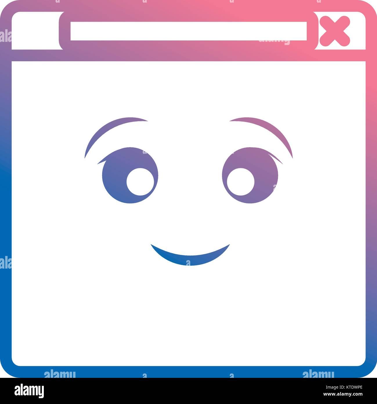 kawaii web page icon - Stock Image