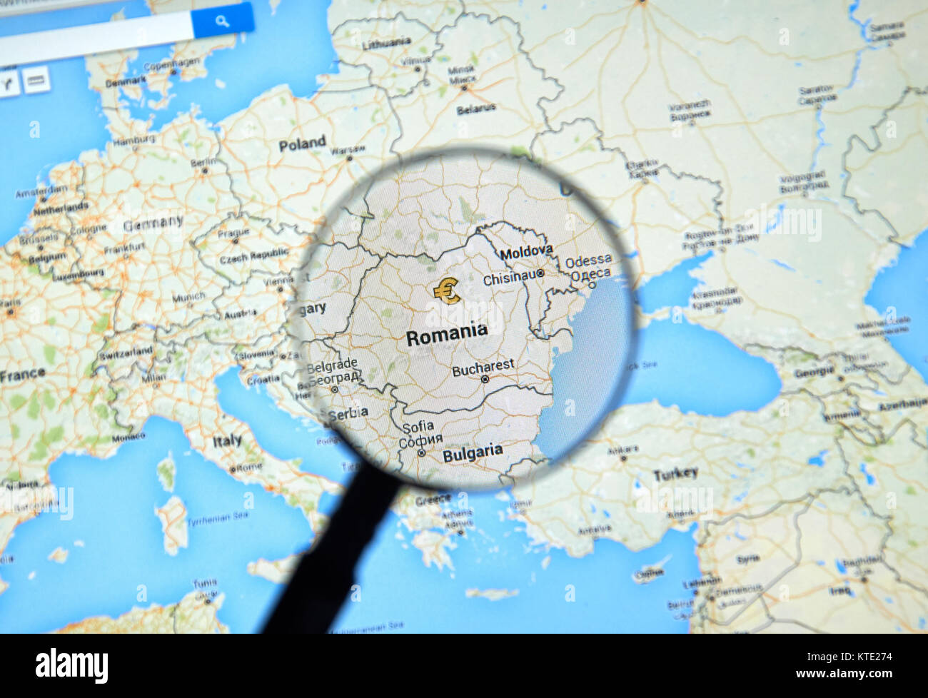 Bucharest Romania City Map Stock Photos Bucharest Romania City