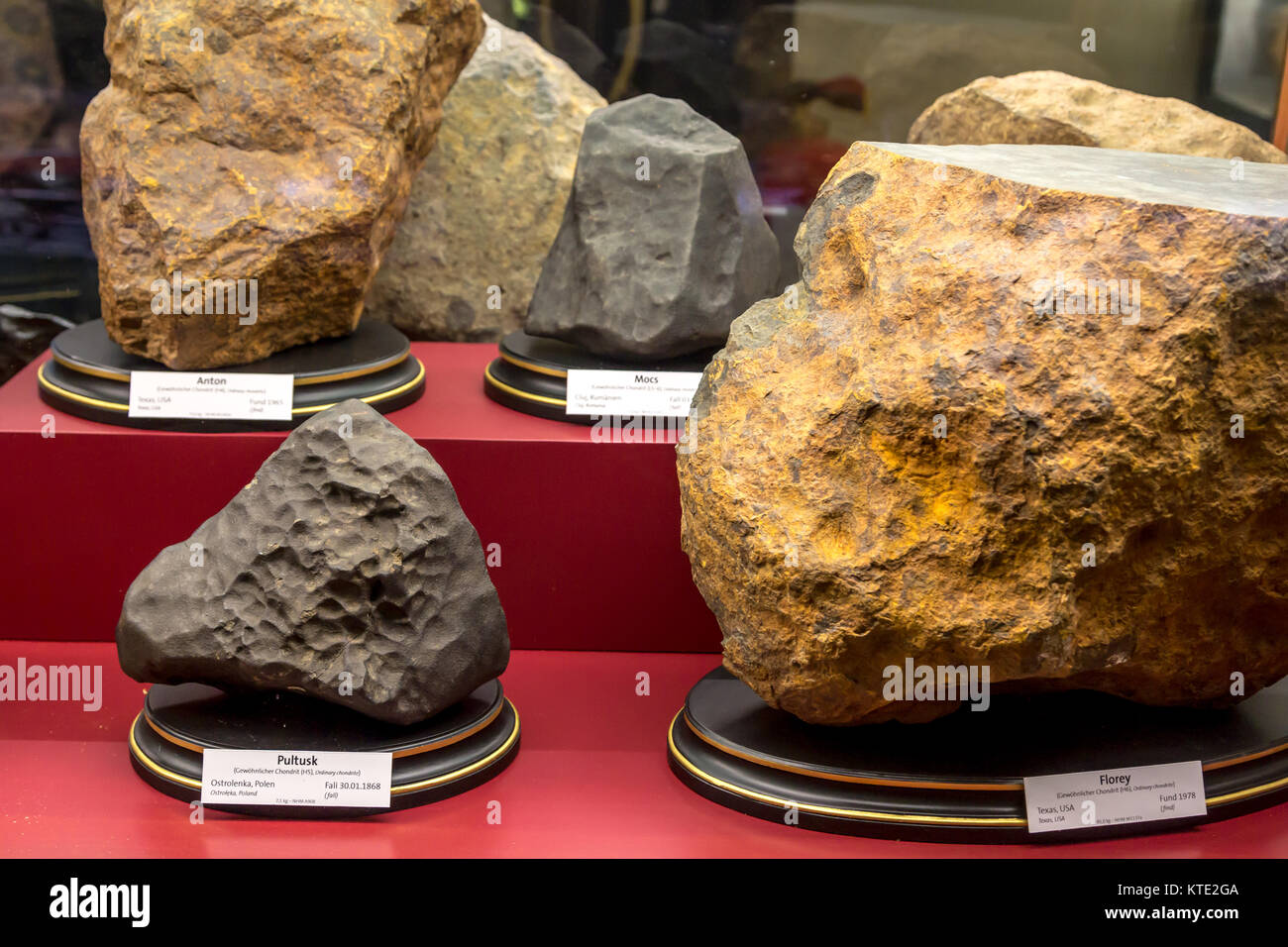 VIENNA, AUSTRIA - SEPTEMBER 12, 2016 : View of Vienna Natural History Museum with the halls where meteorids, minerals - Stock Image
