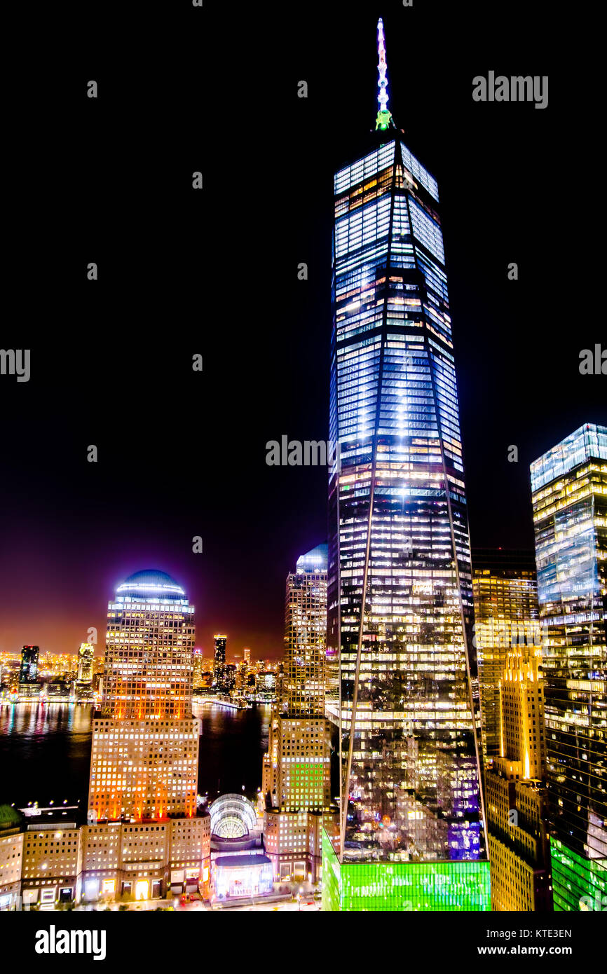 One World Trade Center Freedom Tower NYC - Stock Image