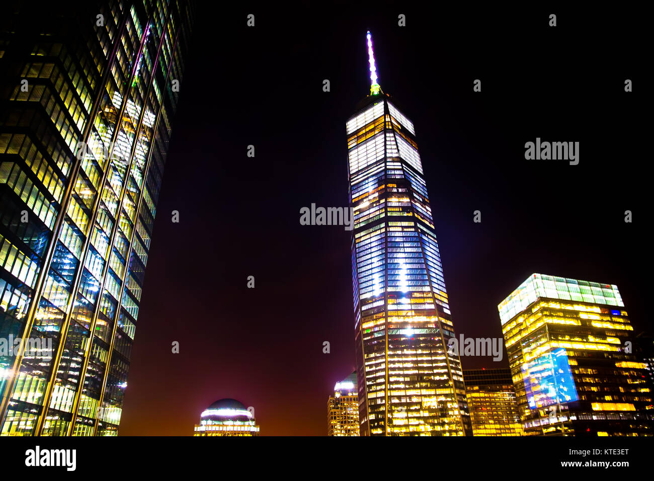 One World Trade Center Freedom Tower NYC Stock Photo