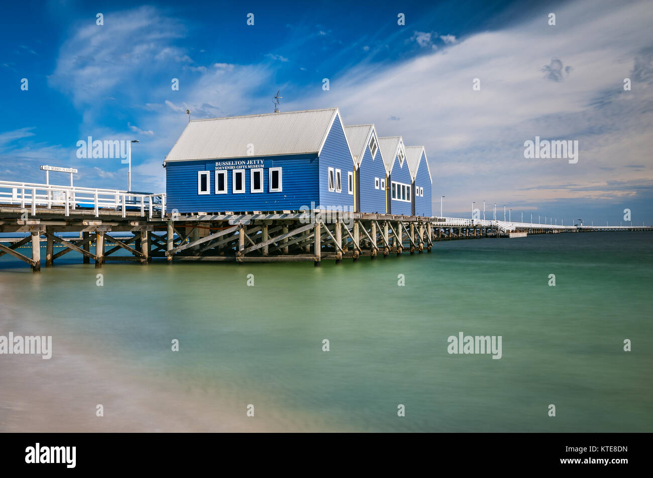 Busselton Jetty is the longest jetty in the southern hemisphere. - Stock Image