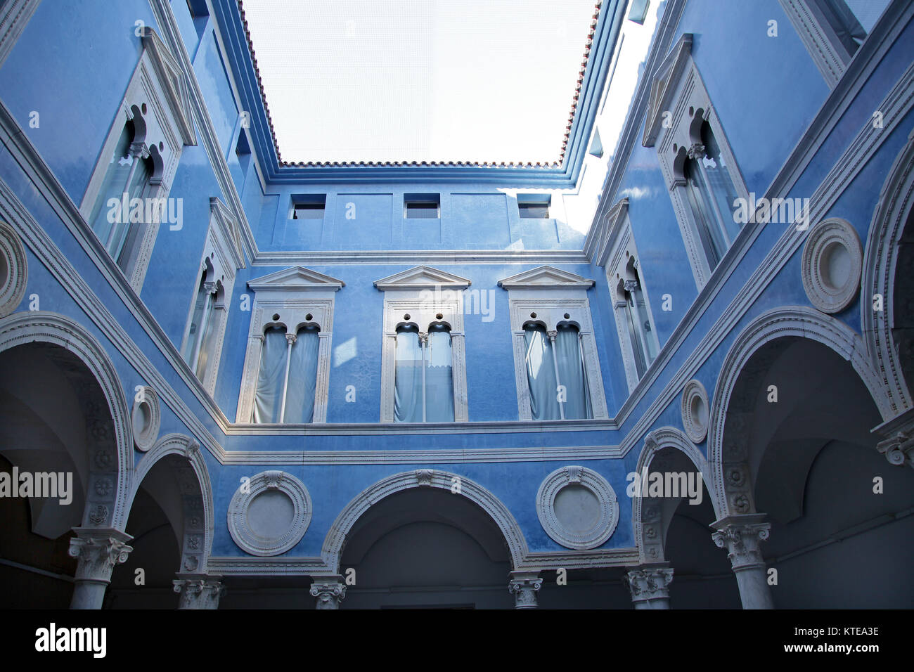 The courtyard of Ambassador Vich at the Museo de Bellas Artes or Museum of Fine Arts near the Turia park.Valencia - Stock Image