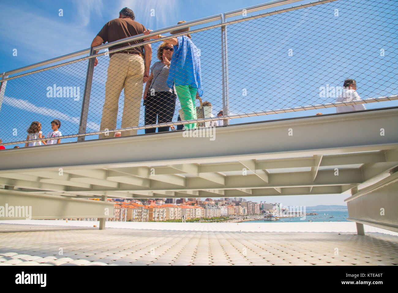 Viewpoint over the city at Botin Center. Santander, Spain. - Stock Image