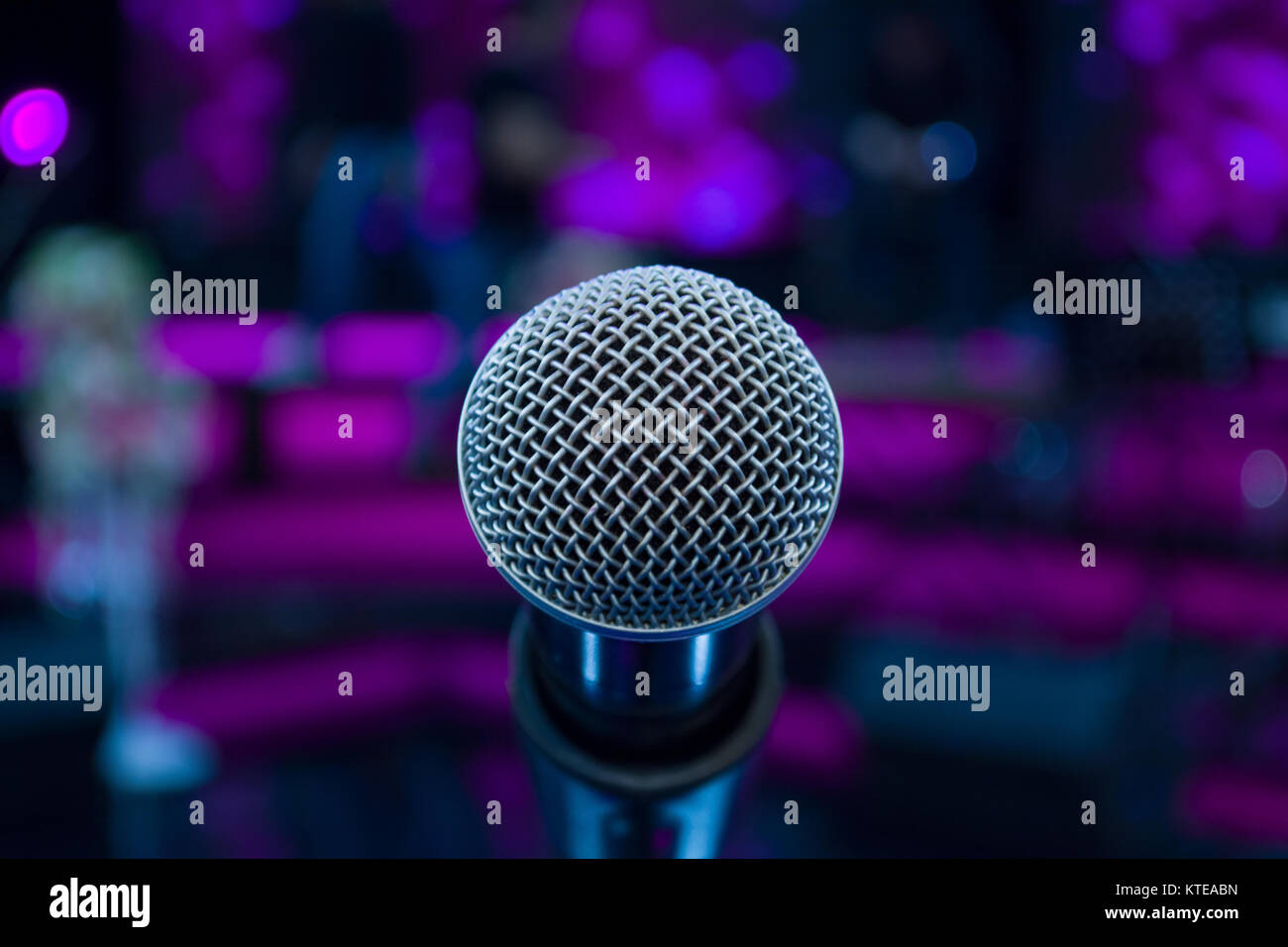 Audio Microphone Against Background Stock Photos & Audio Microphone