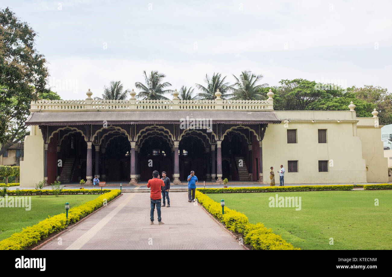 Tipu Sultan's Summer Palace, Bangalore, Karnataka, India. - Stock Image