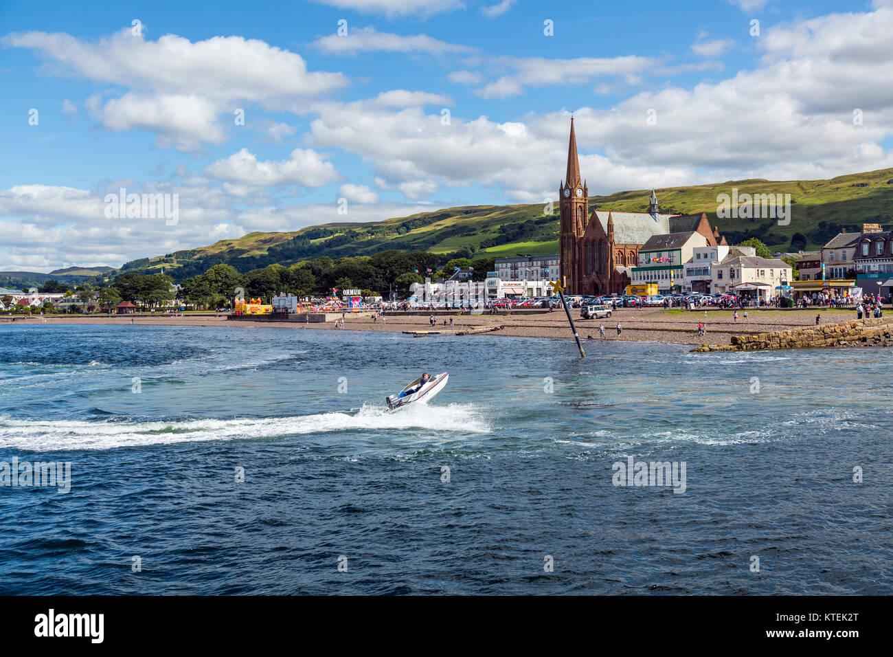 Largs seafront, North Ayrshire, Scotland, UK - Stock Image