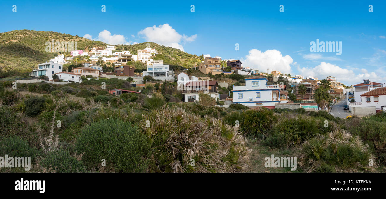 Urbanisation of Punta Carnero, Algeciras, at strait of Gibraltar, Cadiz. Andalusia, Spain. - Stock Image