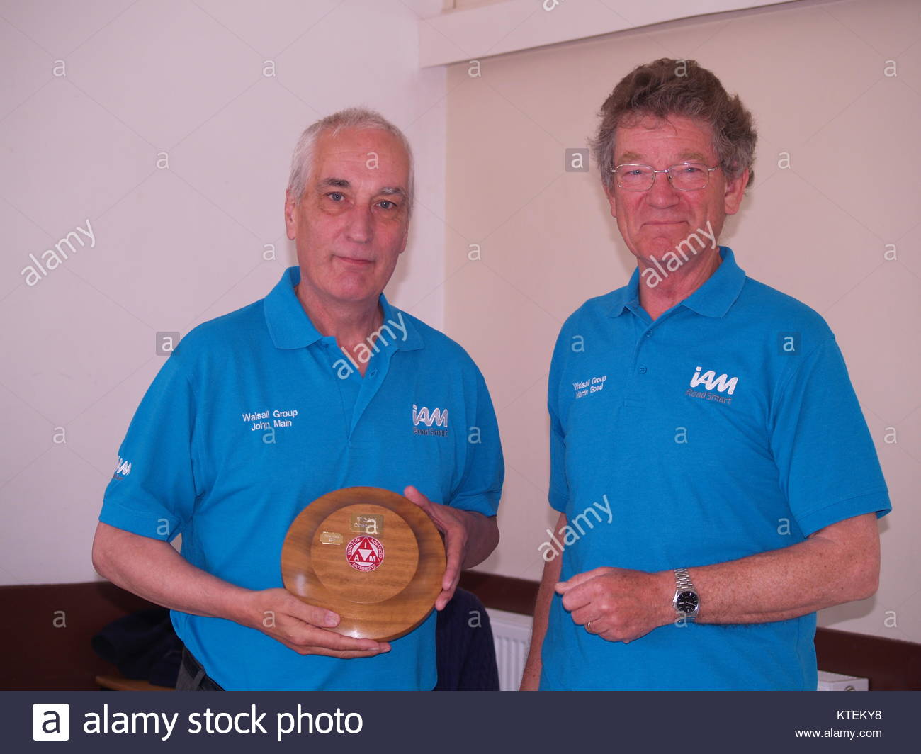 Two Men At The Award Ceremony Of The IAM Roadsmart Walsall Group - Stock Image