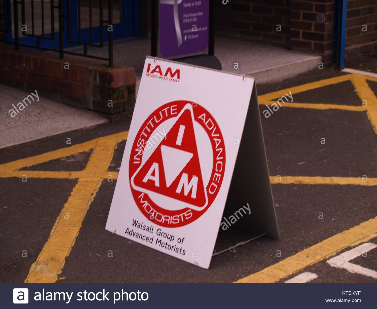 The IAM Roadsmart Walsall Group's Sign Outside Of The Aldridge Community Centre - Stock Image