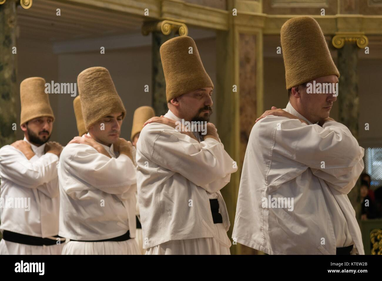 APRIL 21,2013 ISTANBUL.Sufi whirling  (Turkish: Semazen) is a form of Sama or physically active meditation which - Stock Image