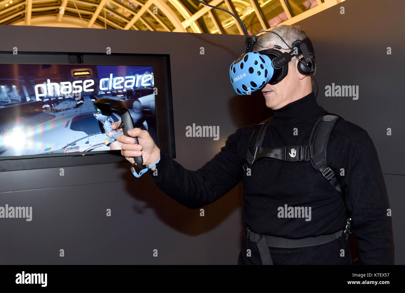IMAX VR is a mind-shattering VR experience in a location-based, state-of- the-art Experience Centre.  The IMAX VR - Stock Image