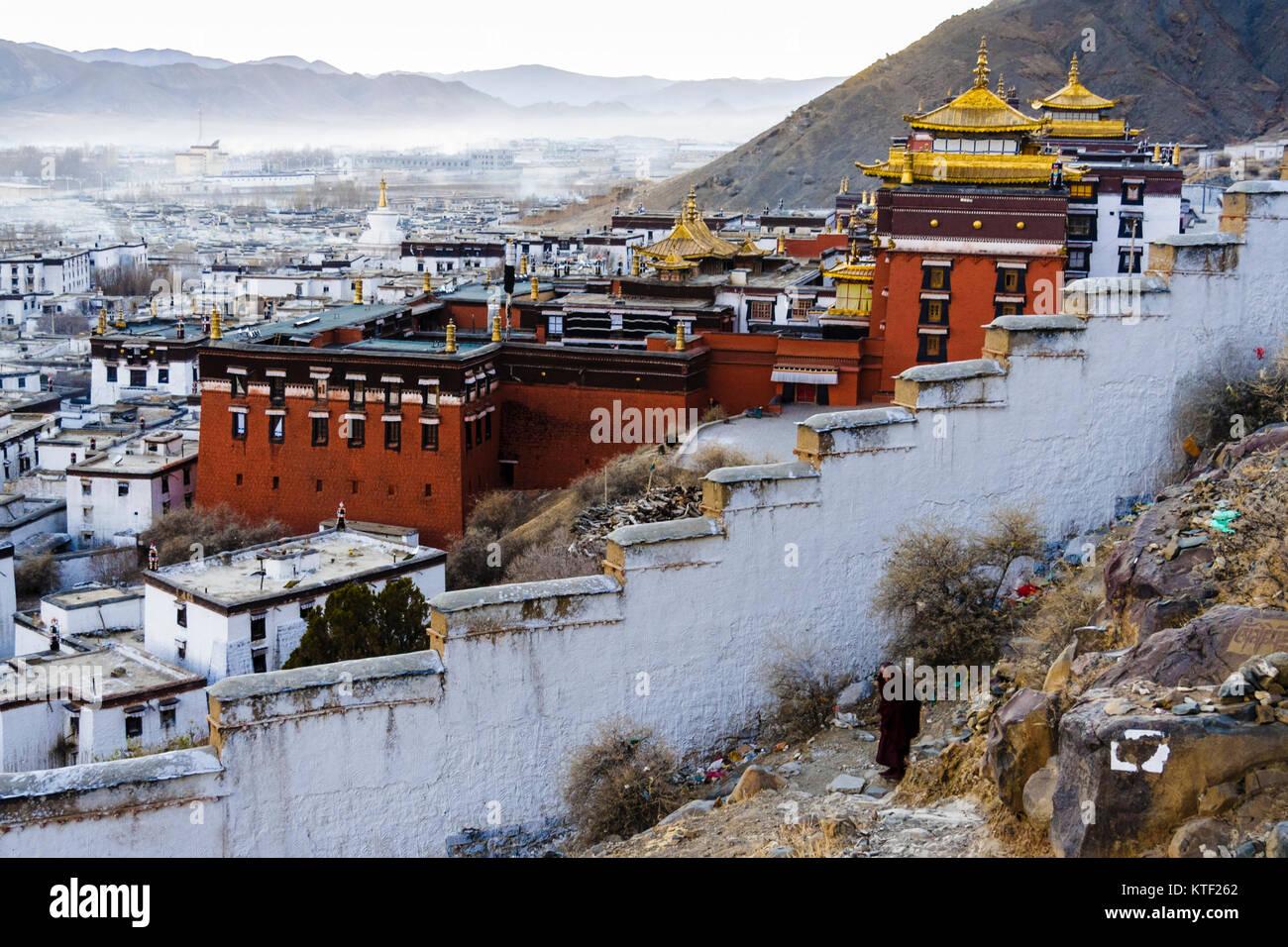 Tashilhunpo Monastery, Shigatse, Tibet - Stock Image