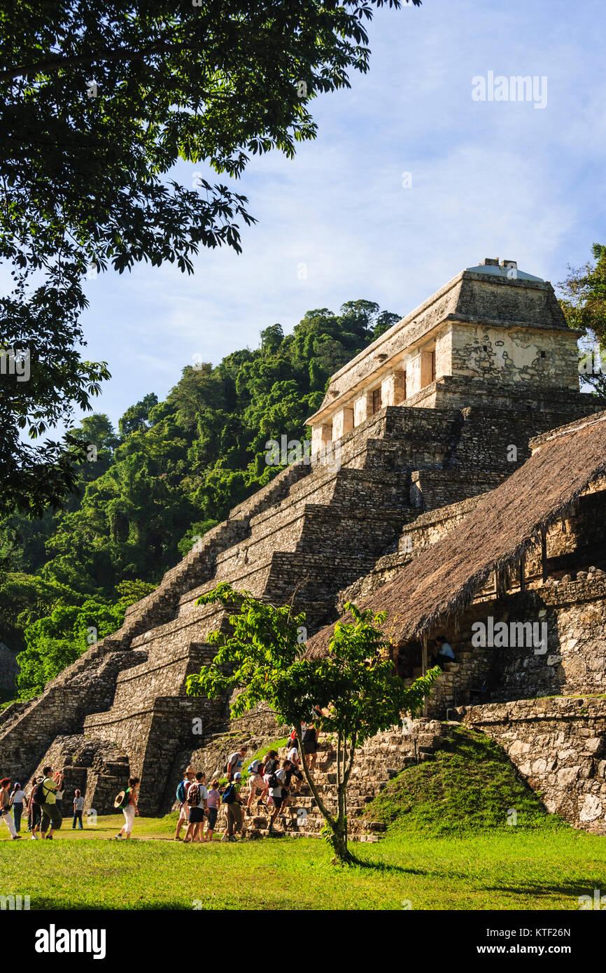 Temple of the Inscriptions. Palenque, Chiapas, Mexico - Stock Image