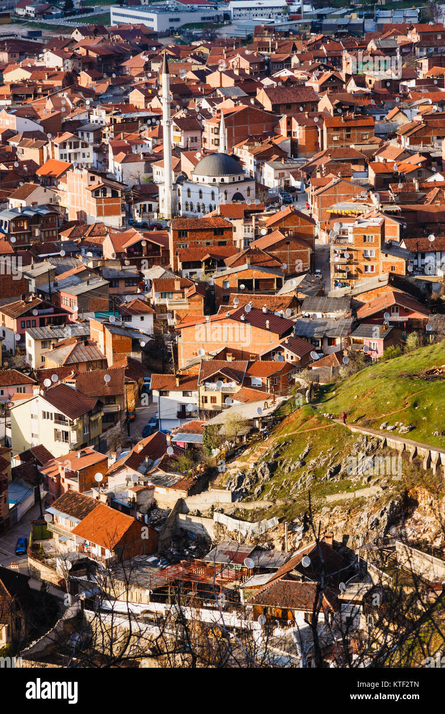 Prizren overview from the castle, Kosovo Stock Photo