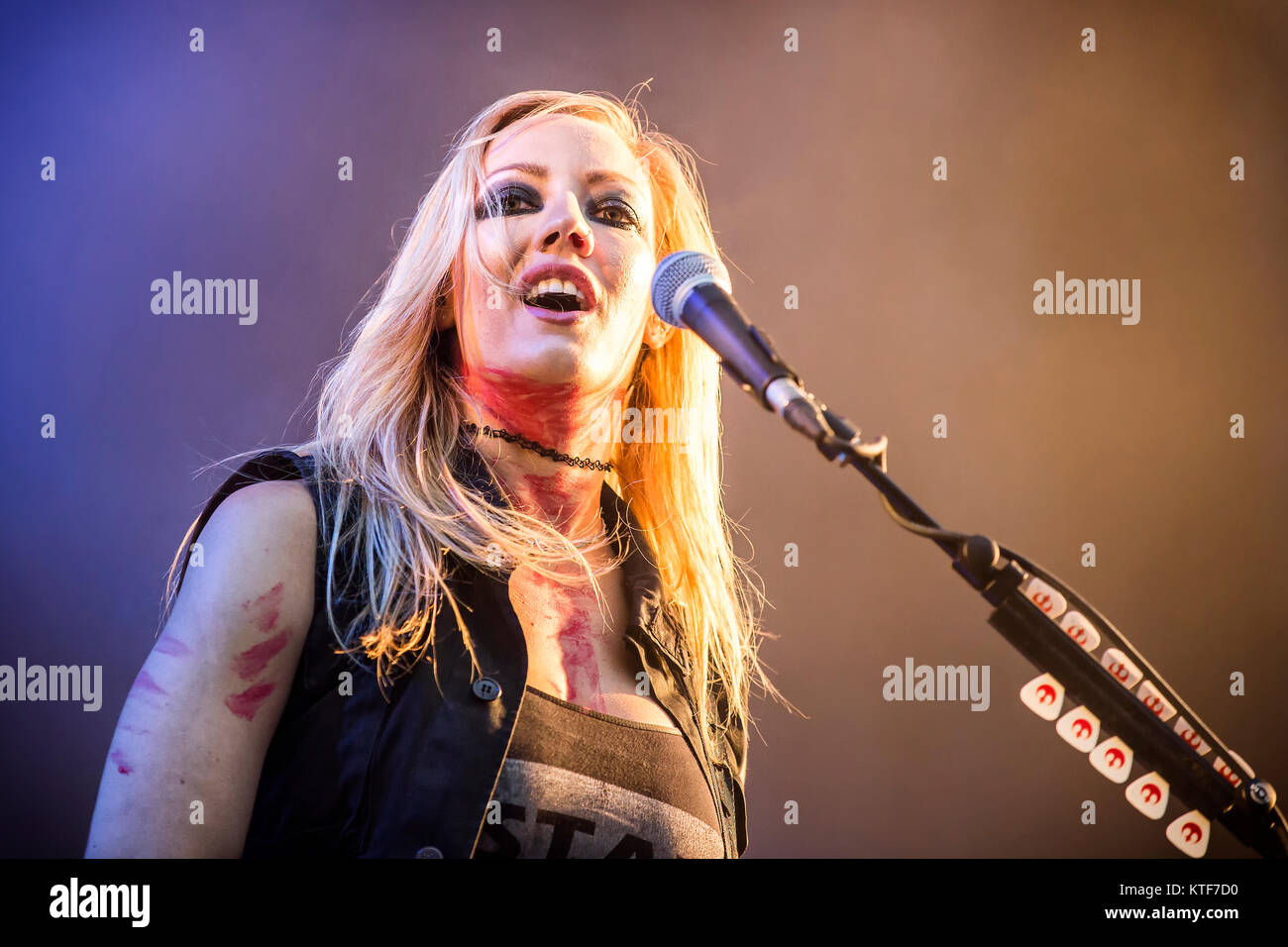 The American singer, songwriter and musician Alice Cooper performs a live concert at the Norwegian music festival - Stock Image