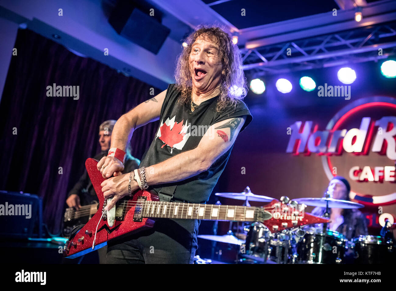 The Canadian heavy metal band Anvil performs a live concert