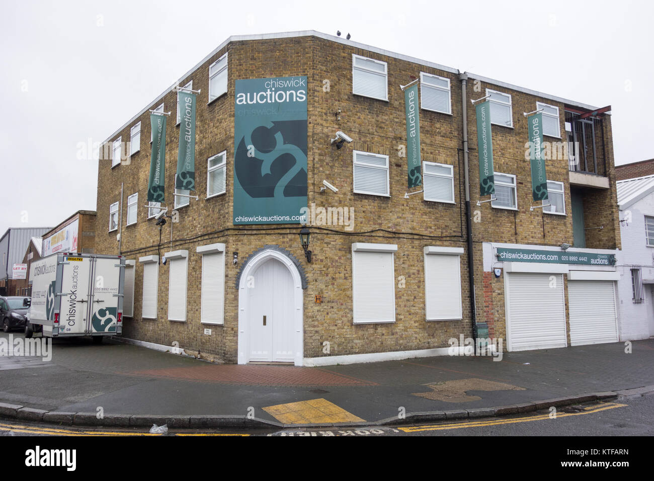 Chiswick Auctions, Colville Road, London, W3, - Stock Image