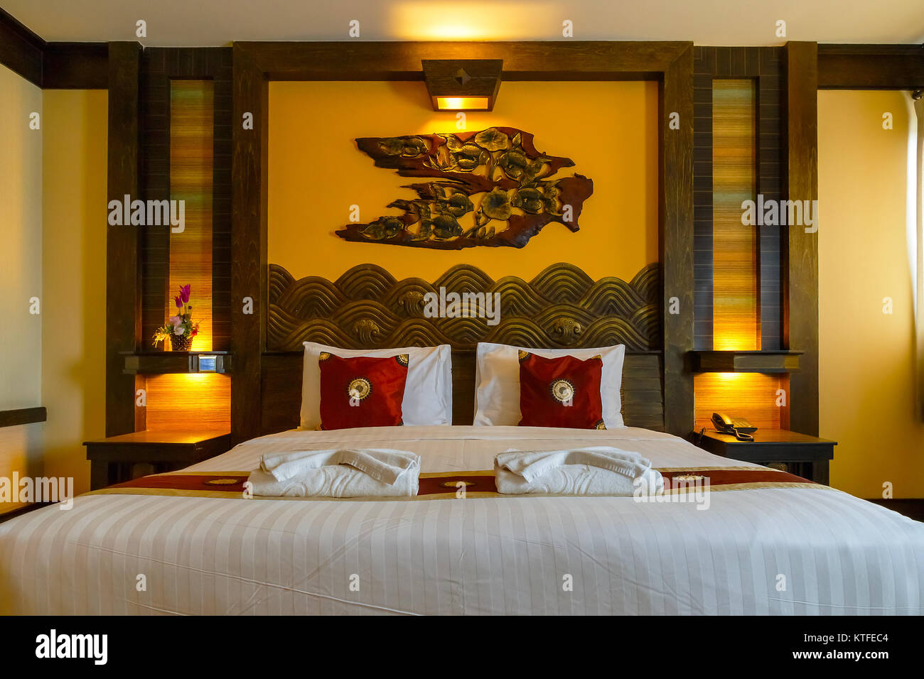 BANGKOK THAILAND - NOVEMBER 4 2016: Interior of a bedroom decorated with northern Thai & Bedroom Decorated Stock Photos \u0026 Bedroom Decorated Stock Images - Alamy