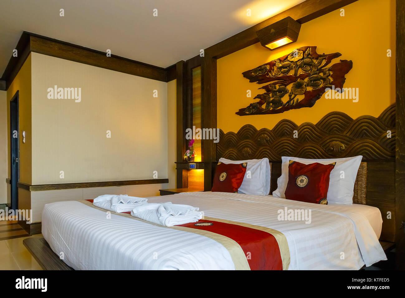 BANGKOK, THAILAND - NOVEMBER 4 2016: Interior of a bedroom