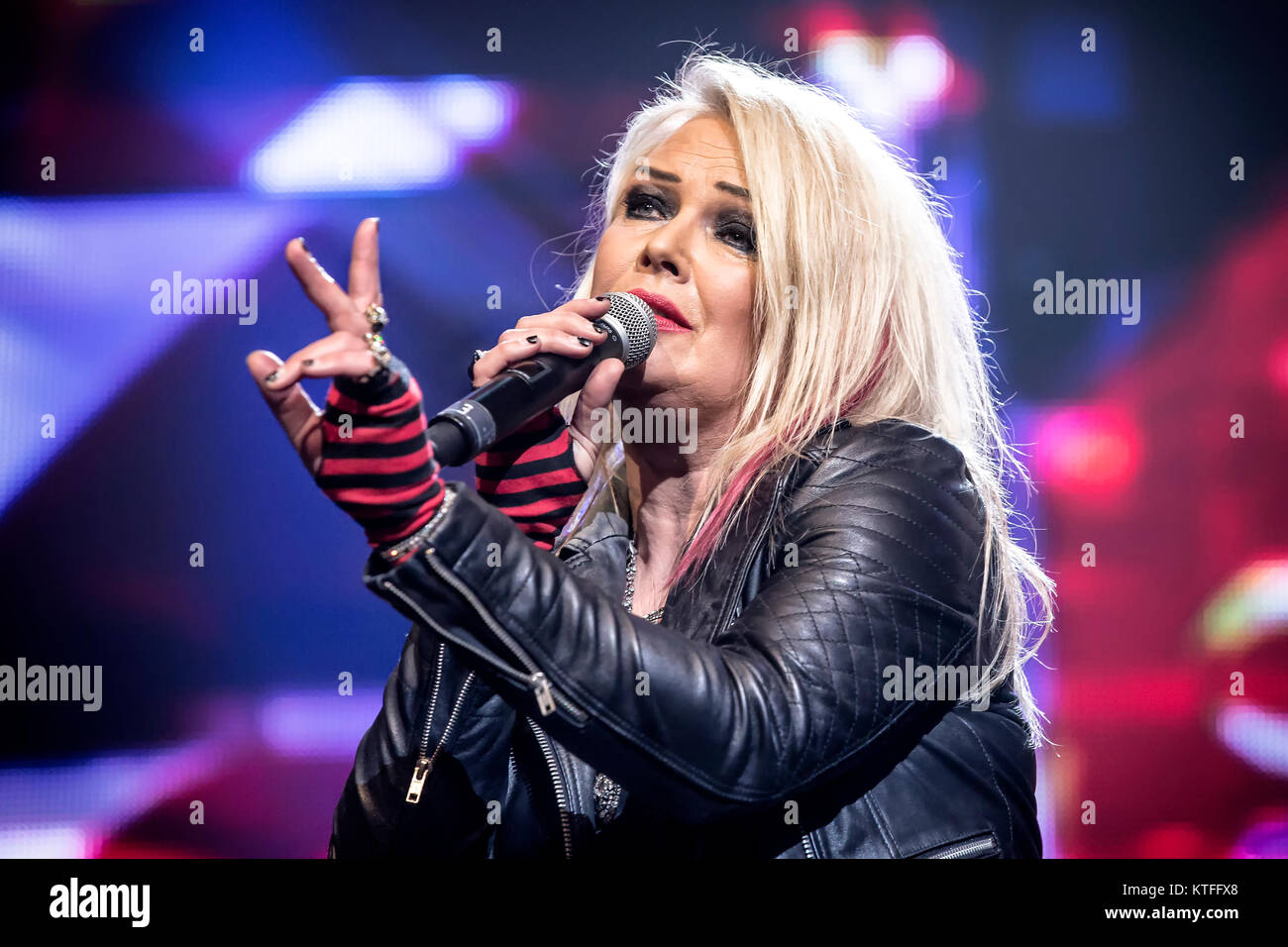 The English singer, songwriter and musician Kim Wilde performs live at the  show 'We
