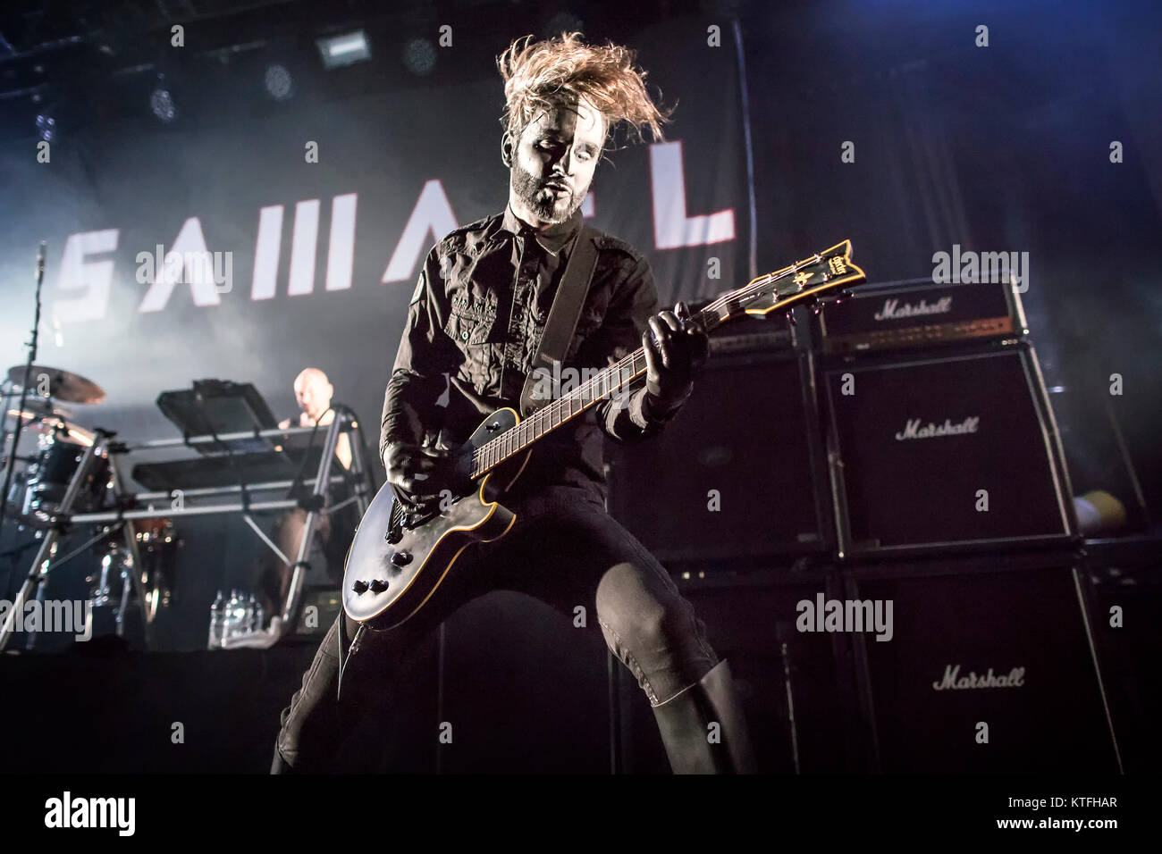 The Swiss industrial metal band Samael performs a live concert at ...