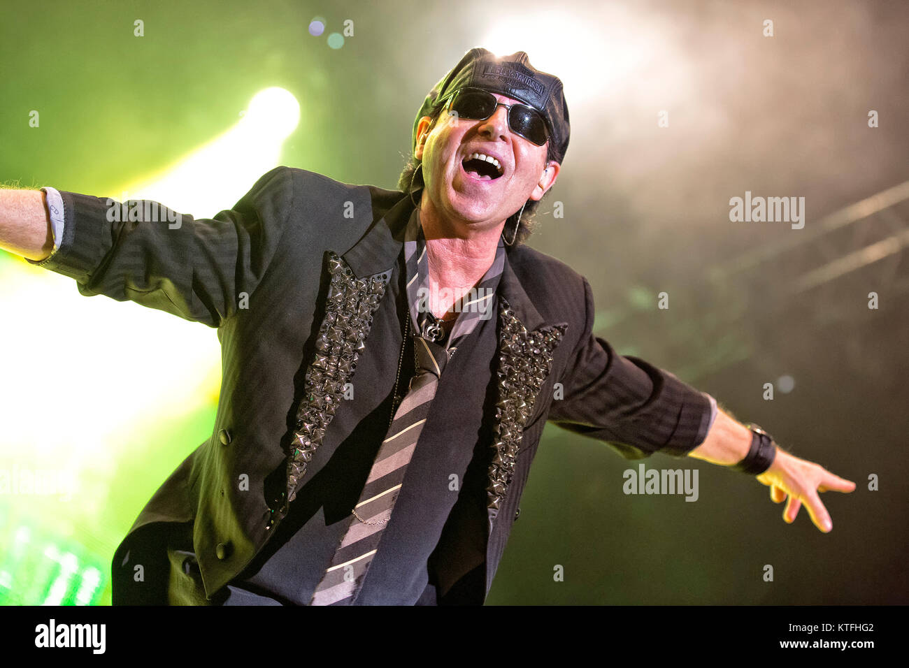 The German rock band Scorpions performs a live concert at