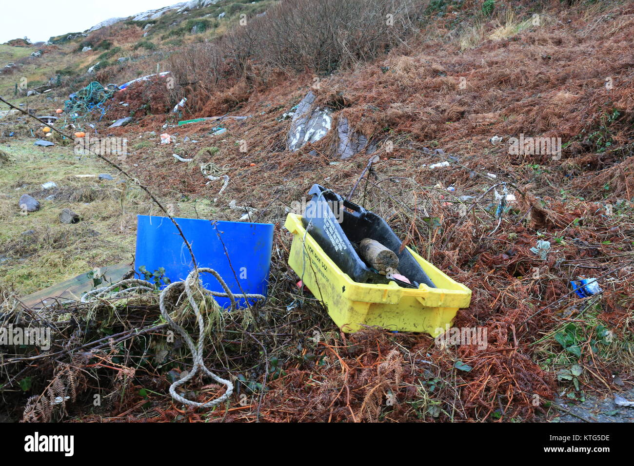 Examples of pollution in the Irish landscape - Stock Image