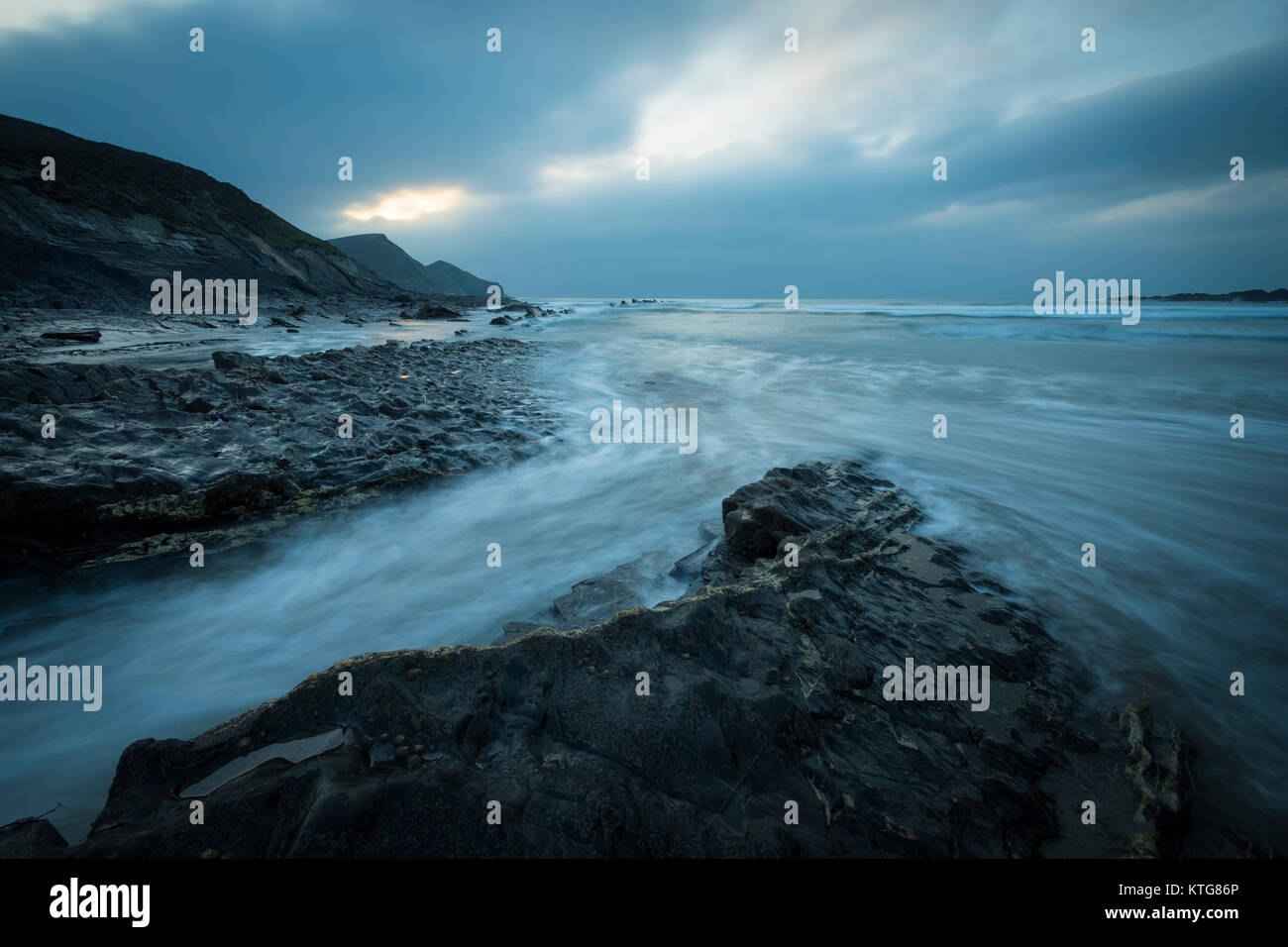 Crackington Haven in North Cornwall. - Stock Image