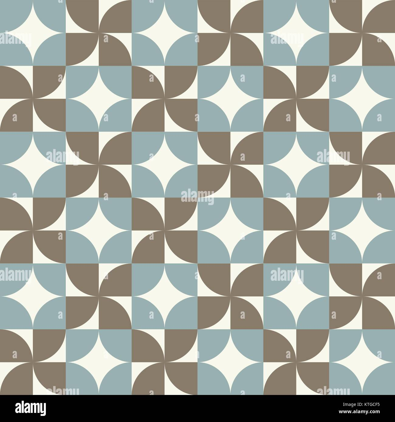 Seamless vintage worn out geometry assemble pattern background - Stock Vector