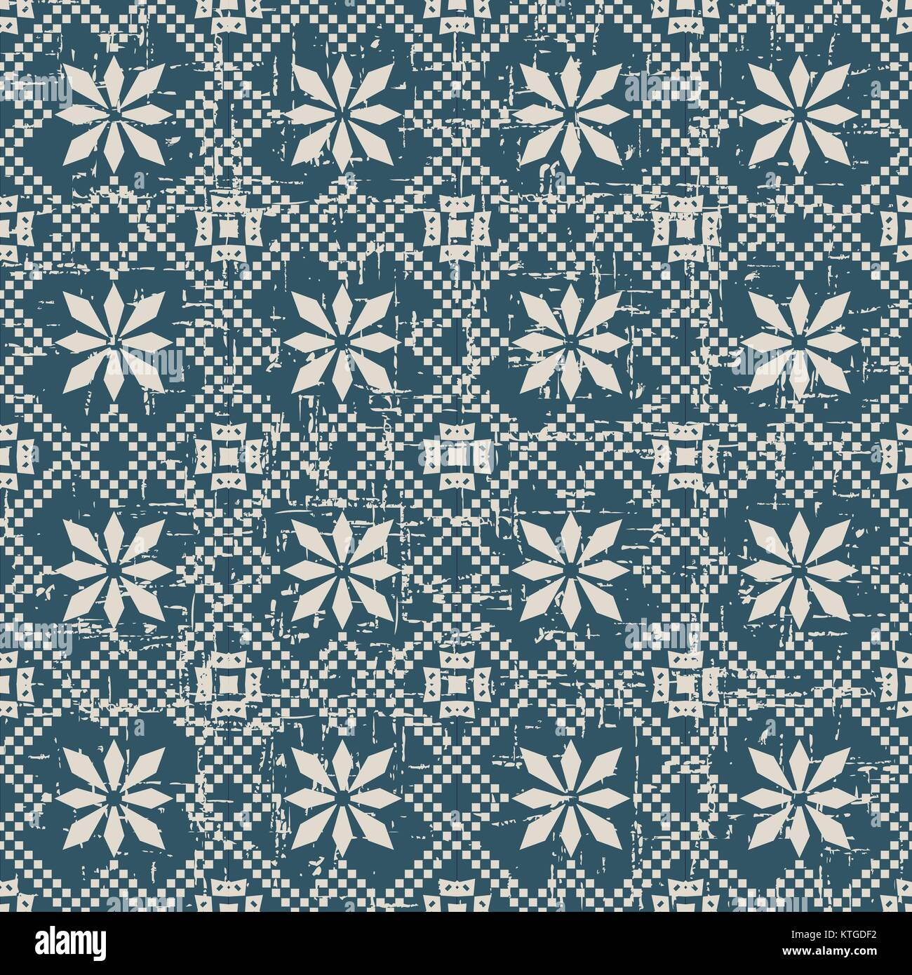 Seamless retro worn out background - Stock Vector