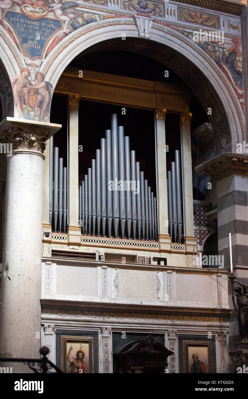 Pisa Duomo - organs by the main altar - Stock Image