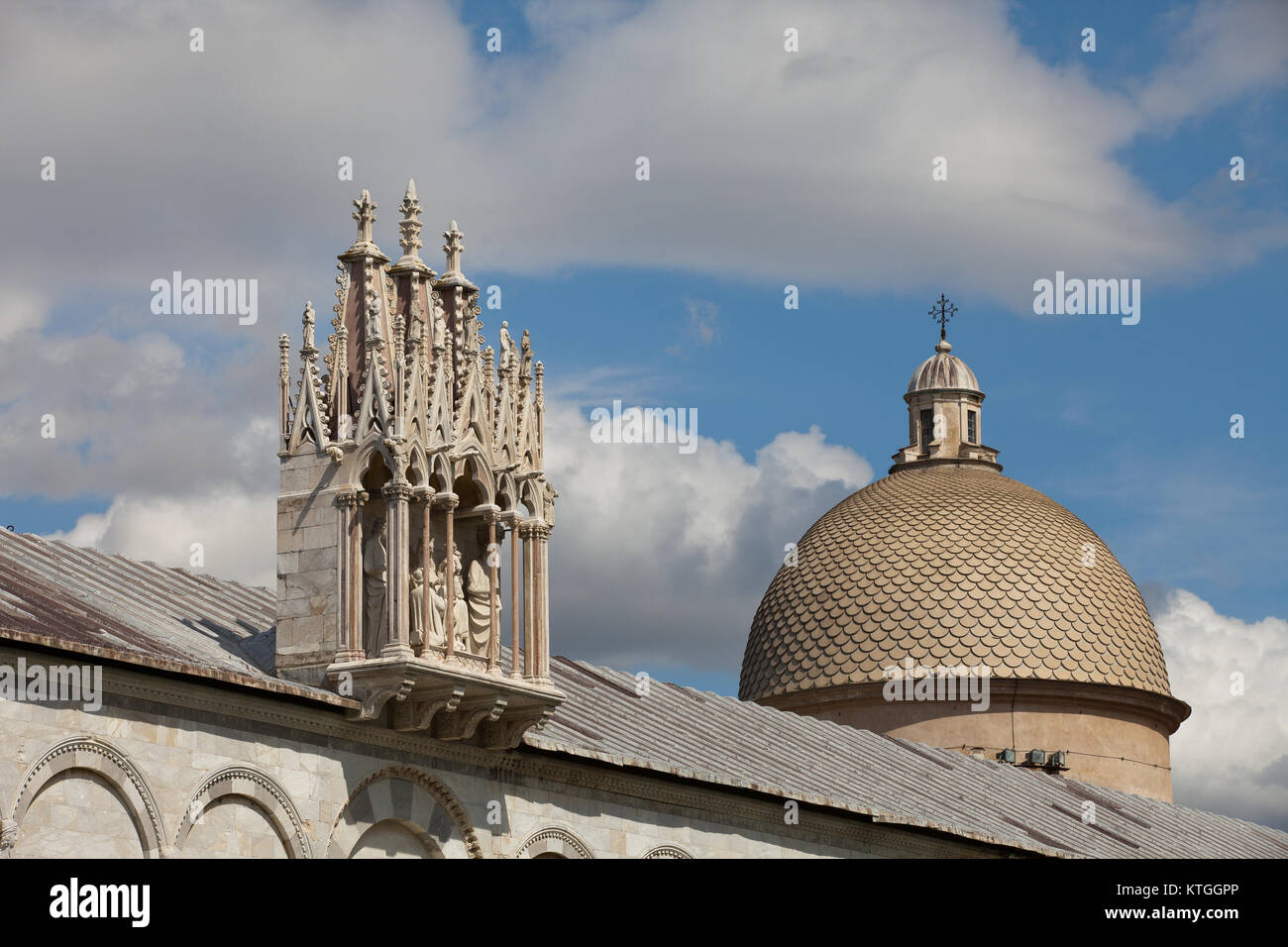 Pisa - Camposanto - Cemetery was constructed in 1278 to house the sacred dirt brought back from Golgotha during Stock Photo