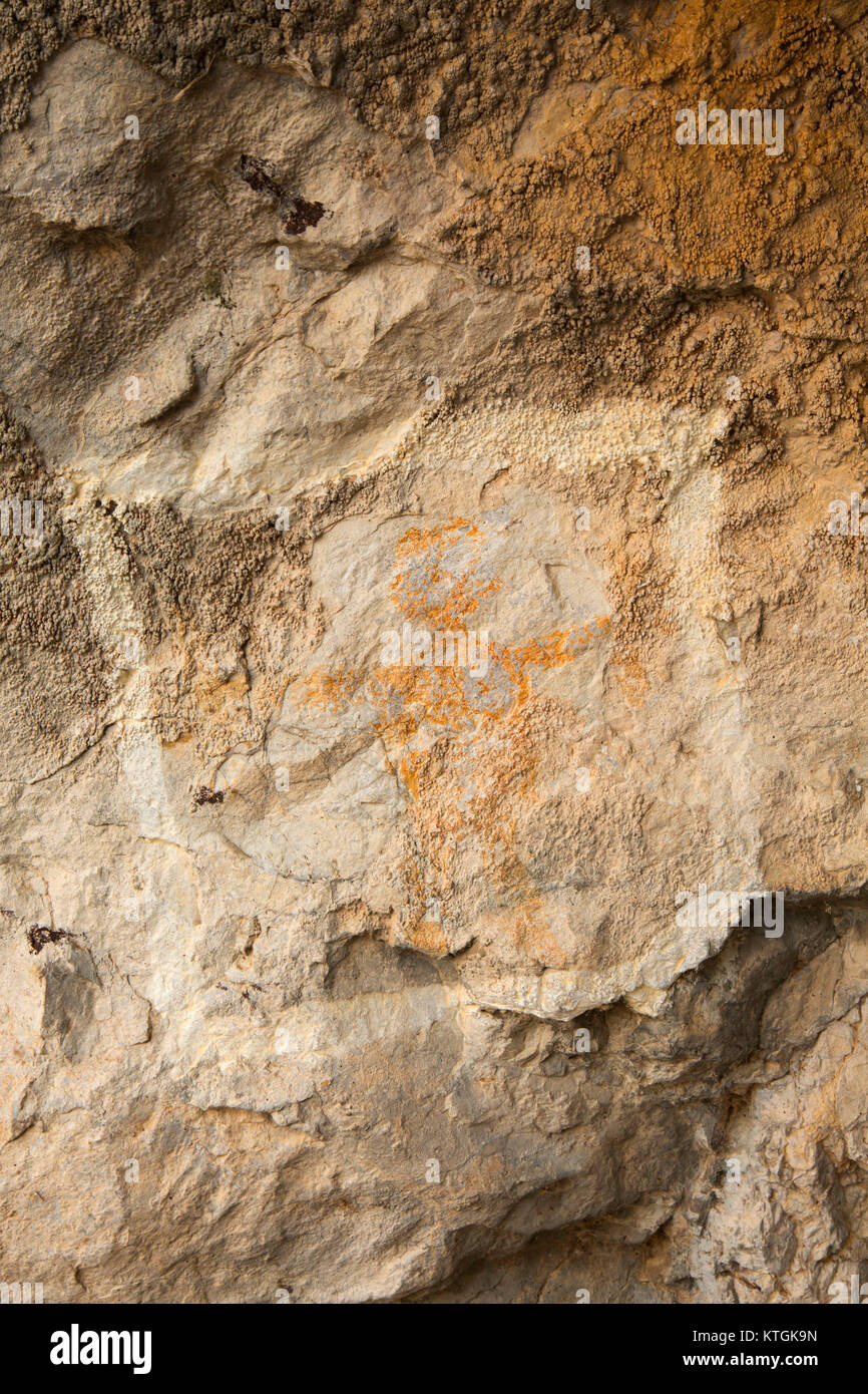 Pictograph, Missouri Headwaters State Park, Montana - Stock Image